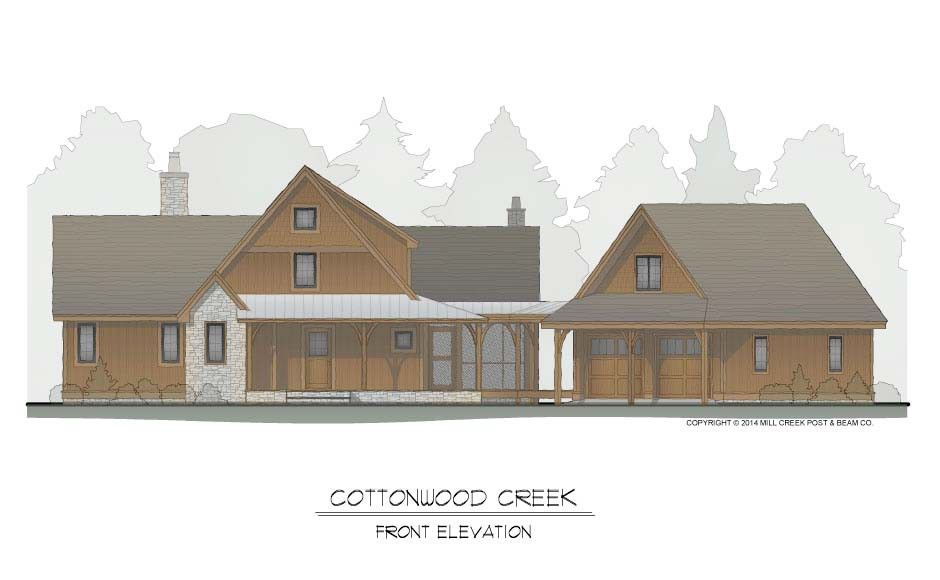 Cottonwood Creek Timber Frame Cottage | Mill Creek Post and Beam ...