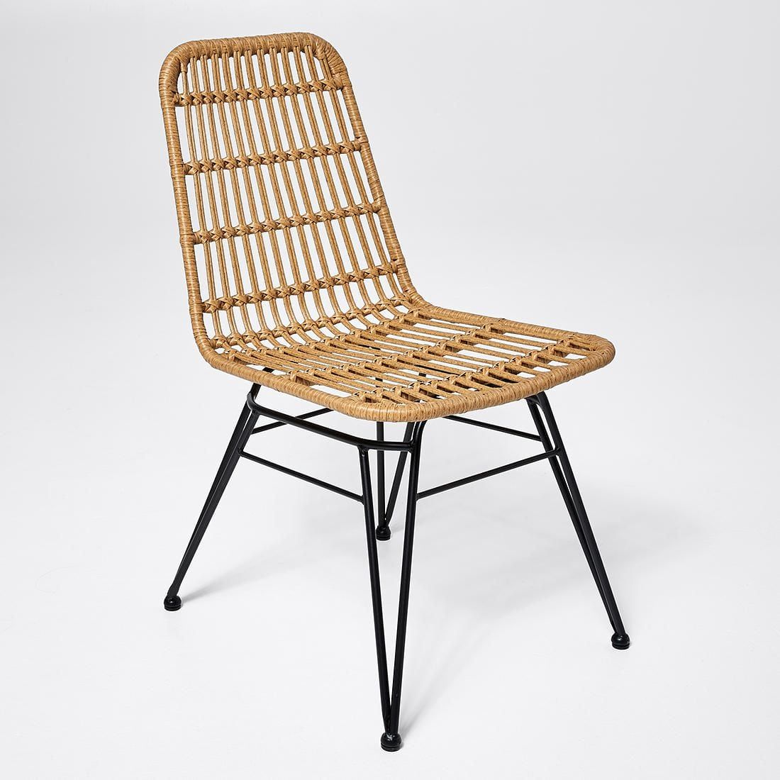Woven Rattan Dining Chair | Rattan dining chairs, Woven ...