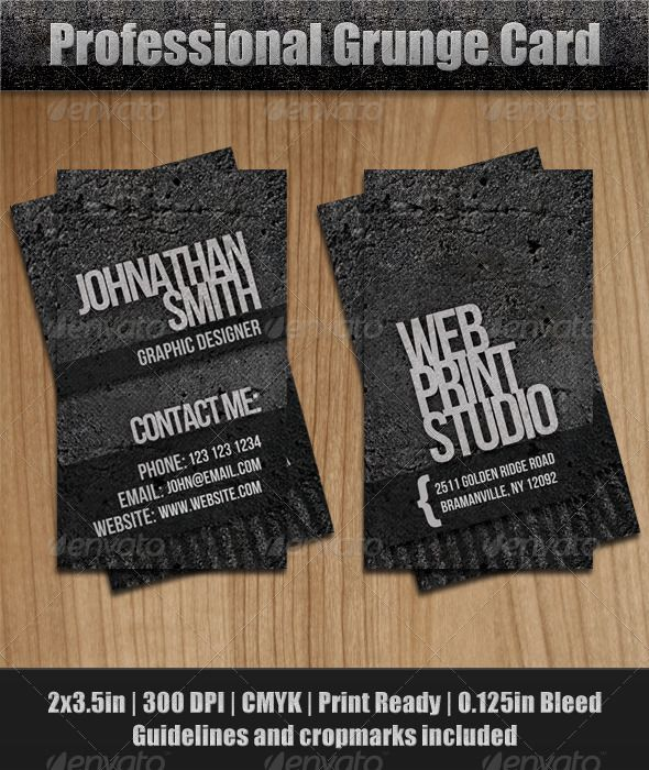 Grunge business card business cards and business grunge business card reheart Images