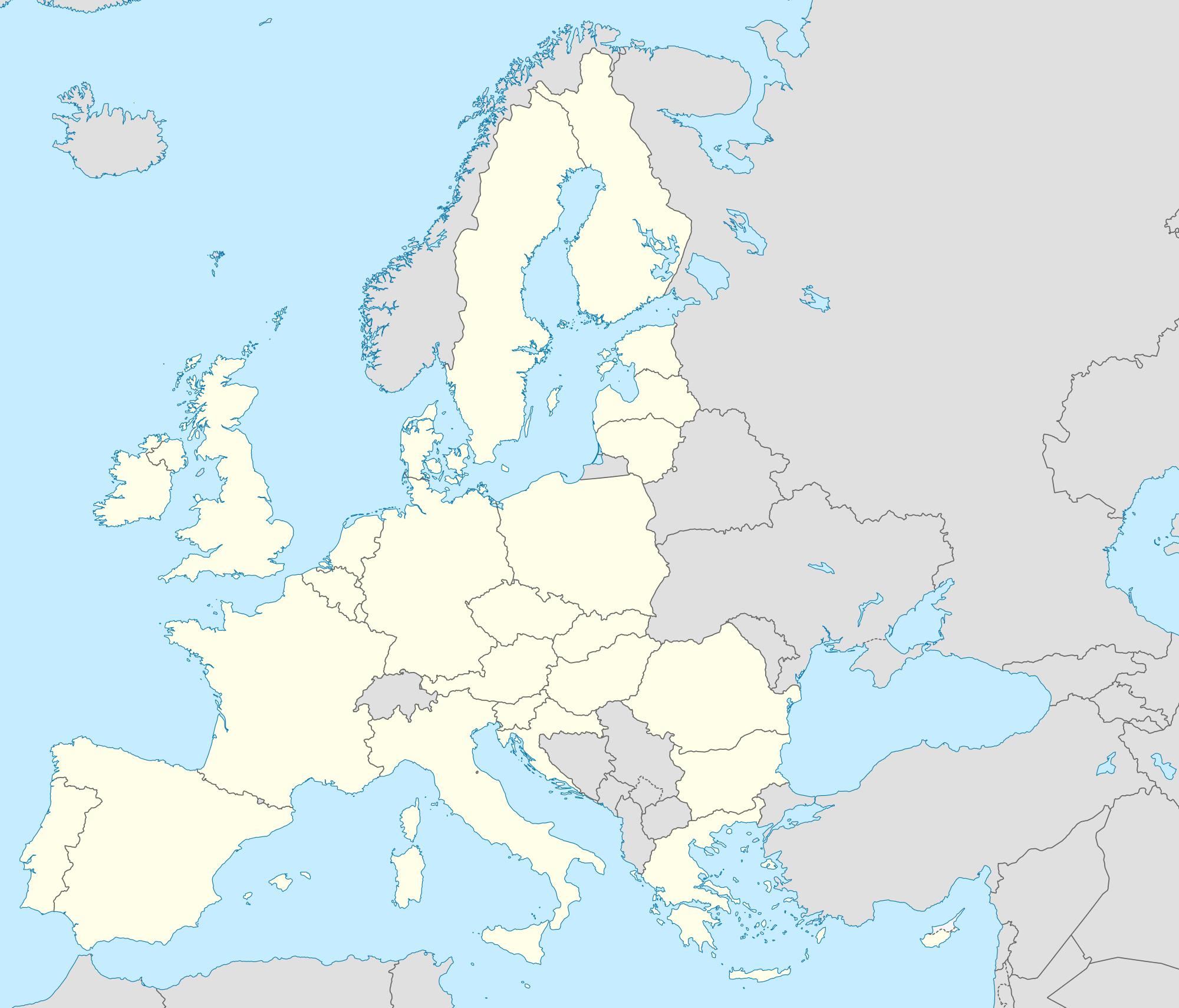 Mapa Politico Union Europea Mudo.Pin En Rea