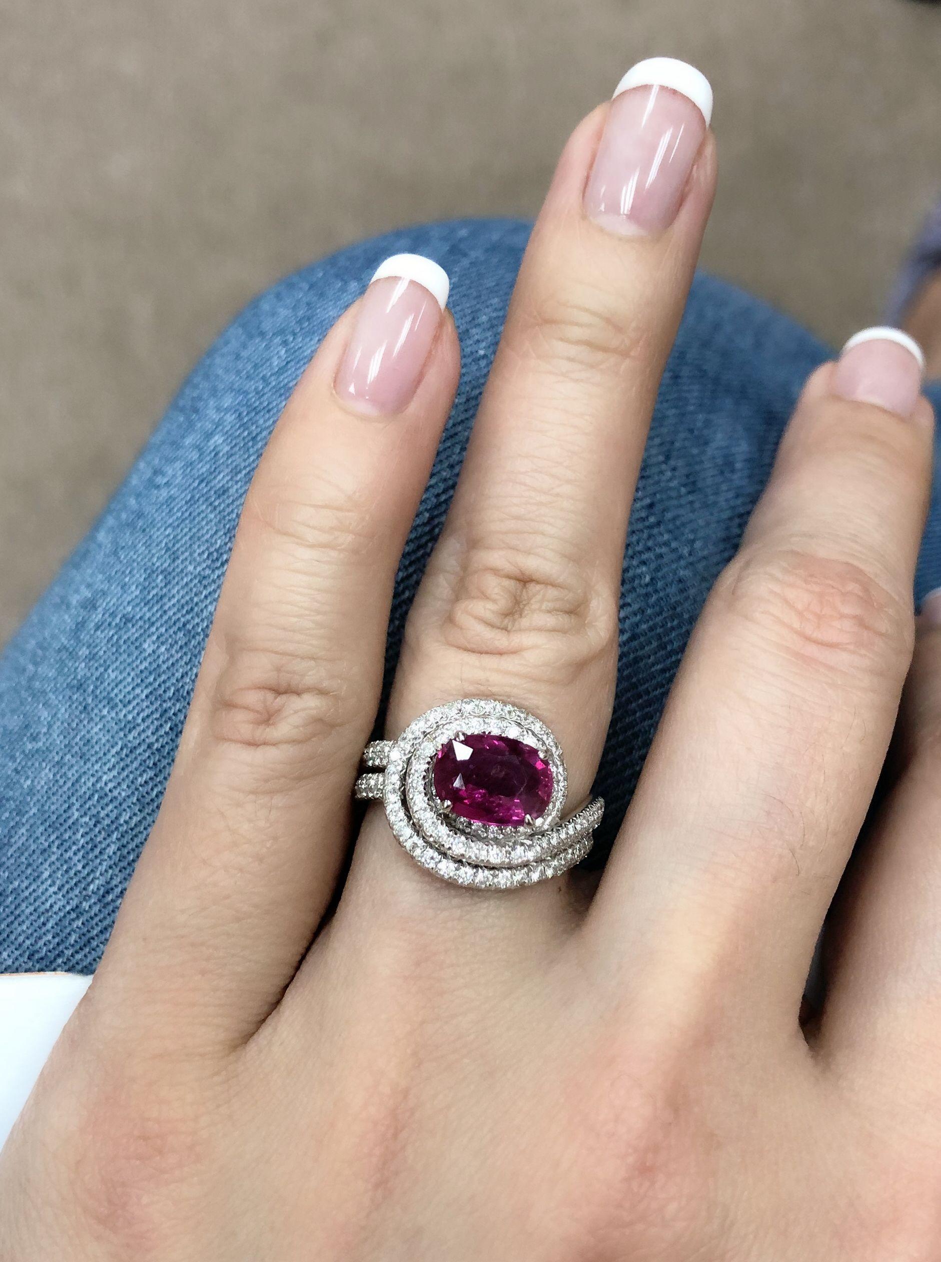 Ruby diamond ring rosy red takıat pinterest ruby