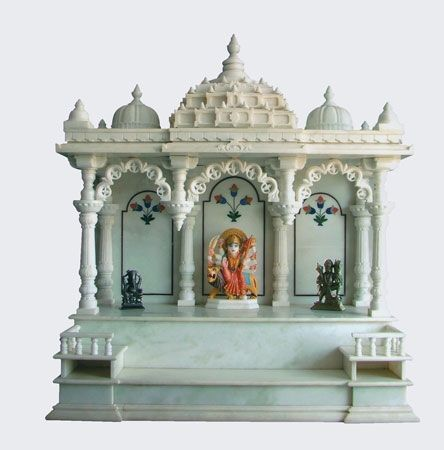 Attirant Antique Hindu God Statues With Makarana Marble Temple.