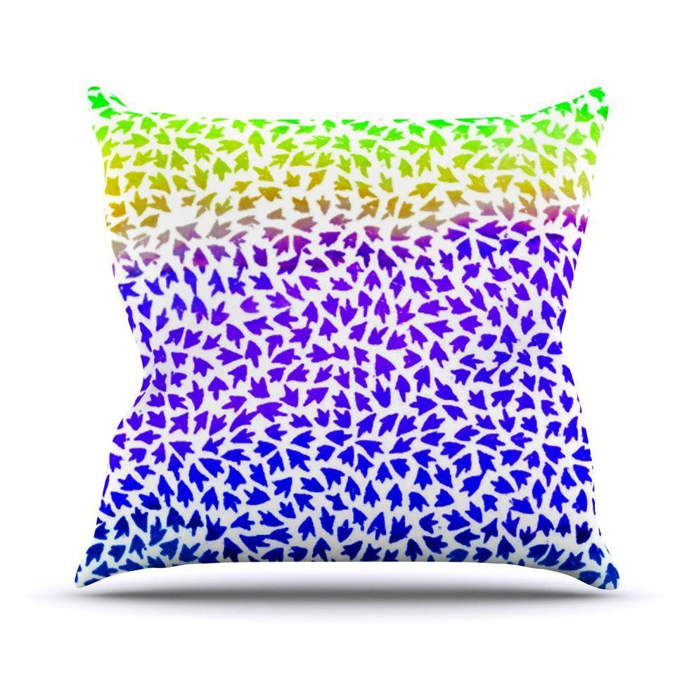 "Sreetama Ray ""Aqua Arrows"" Blue Purple Outdoor Throw Pillow ..."