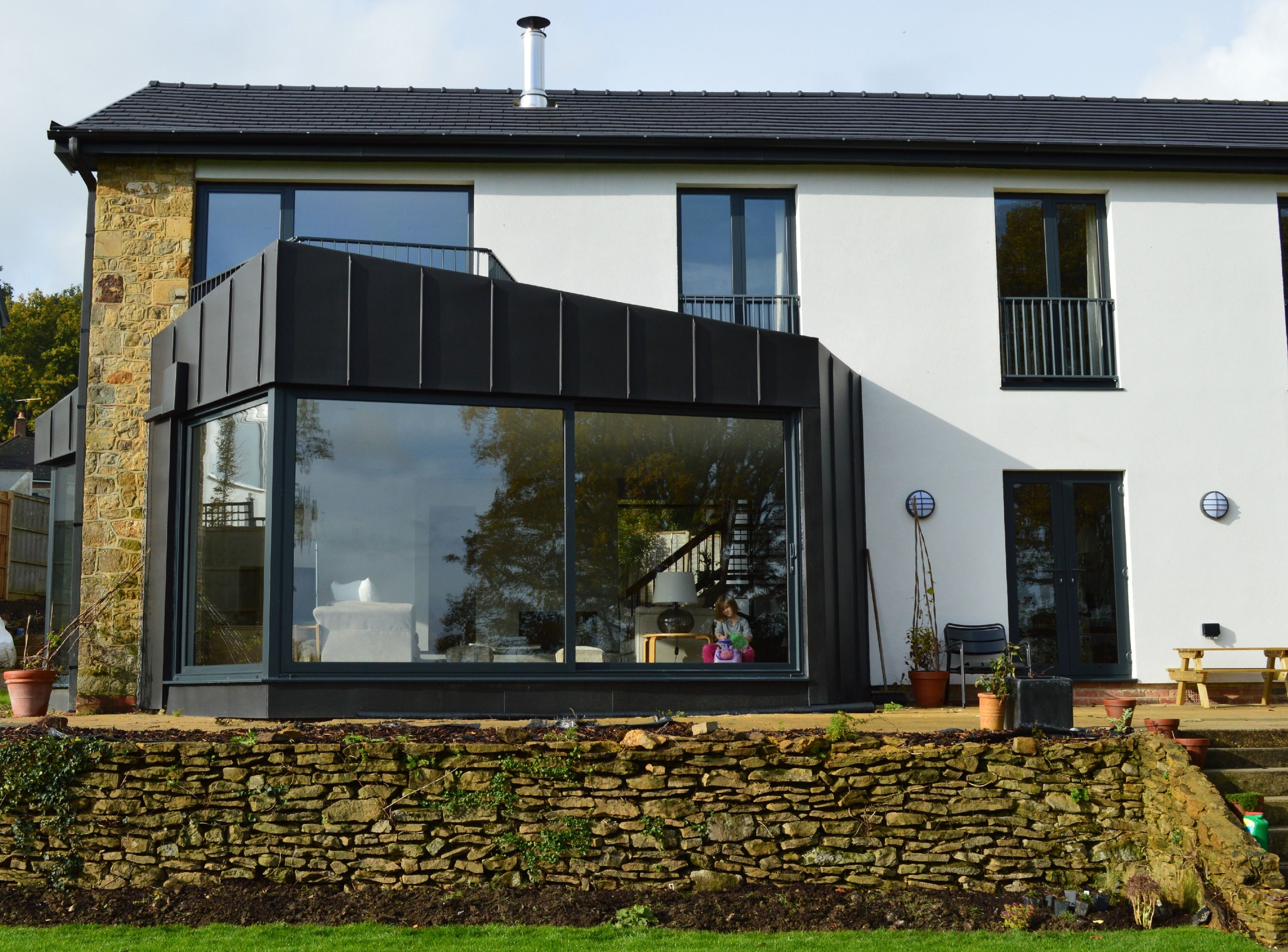 Bay window design exterior  zincclad extension to the living room  designextend  pinterest