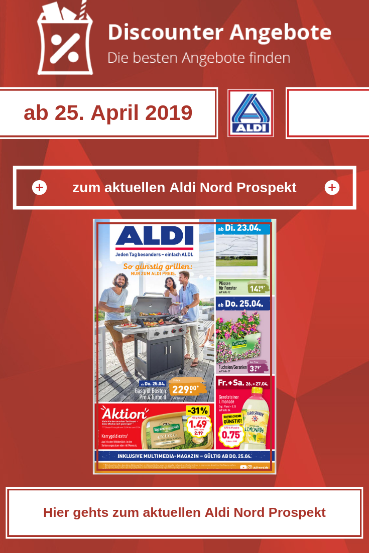 Aldi Nord Prospekt Ab Dem 25 April 2019 Aldi Lidl Angebote
