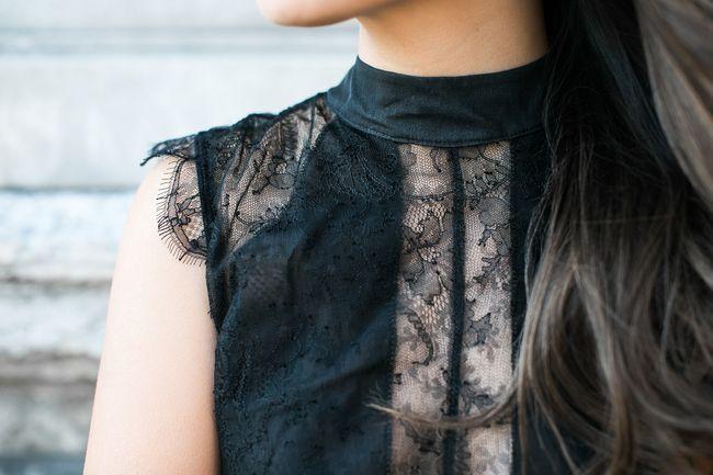 Passionate Lace :: Flare pants & Lace bodysuit