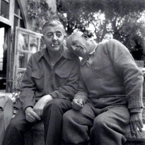 Jacques Prévert and Pablo Picasso, 1951 -by Boris Lipnitzki