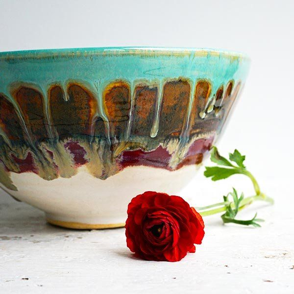 Noodle Bowl 6 cup in Turquoise Sunrise