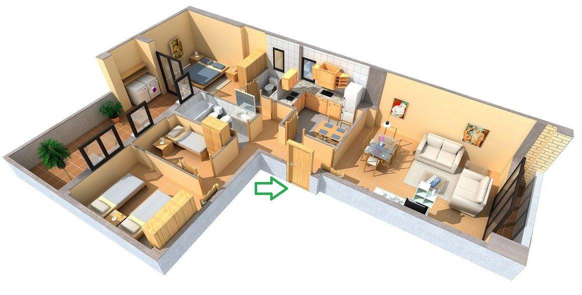 planos de casas modernas en forma de l