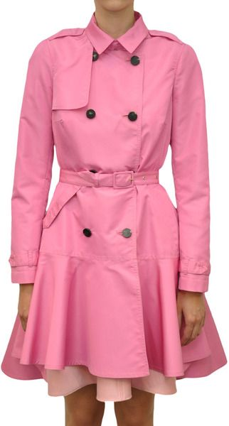 VALENTINO  Pink Bimaterial Trench
