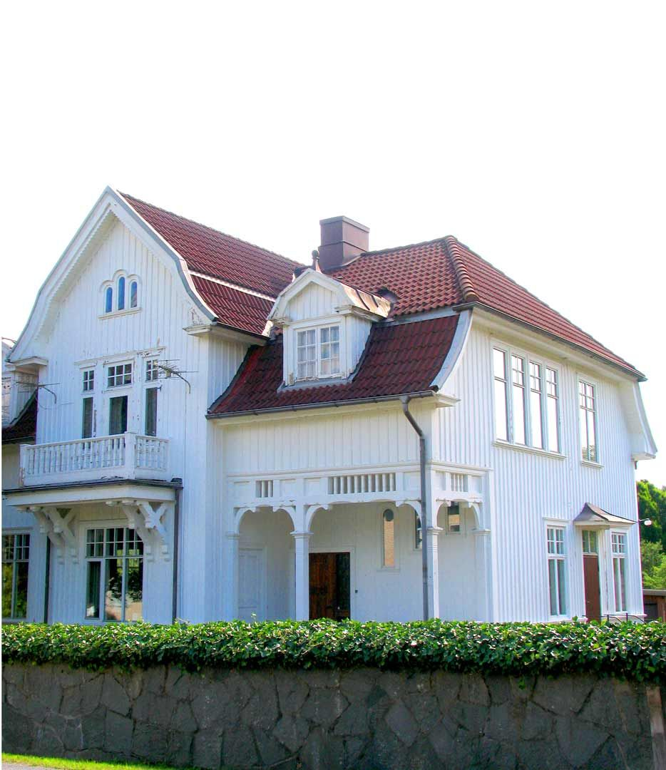 Swedish beautiful white house for Casas y mansiones
