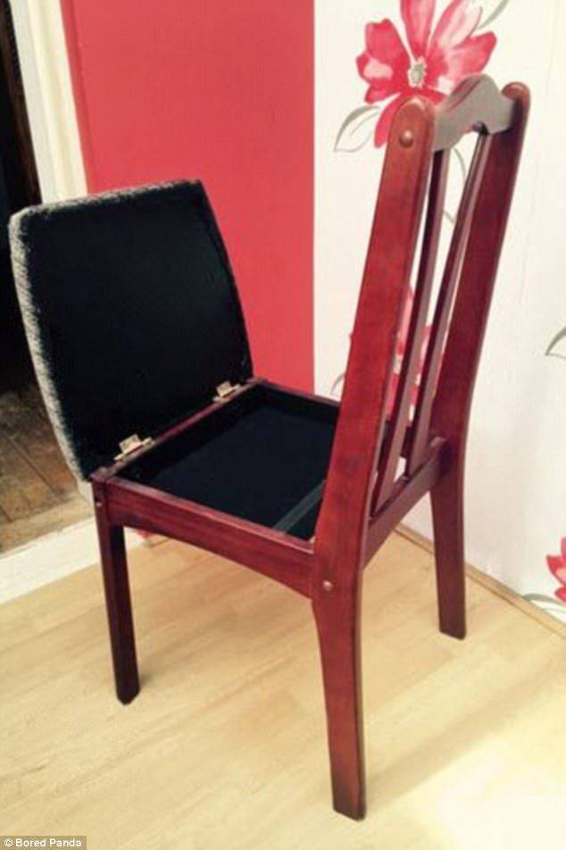 A Hidden Compartment In A Chair Is Also An Ideal Hiding Place For Valuables