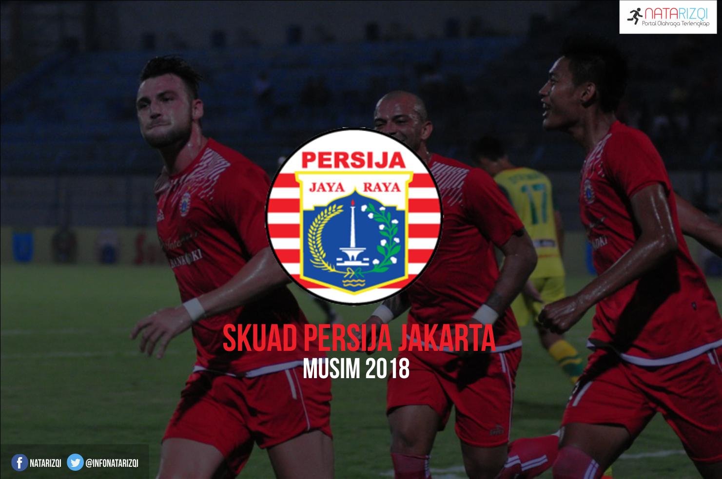 Inilah Daftar Skuad Pemain Persija Jakarta Musim 2018