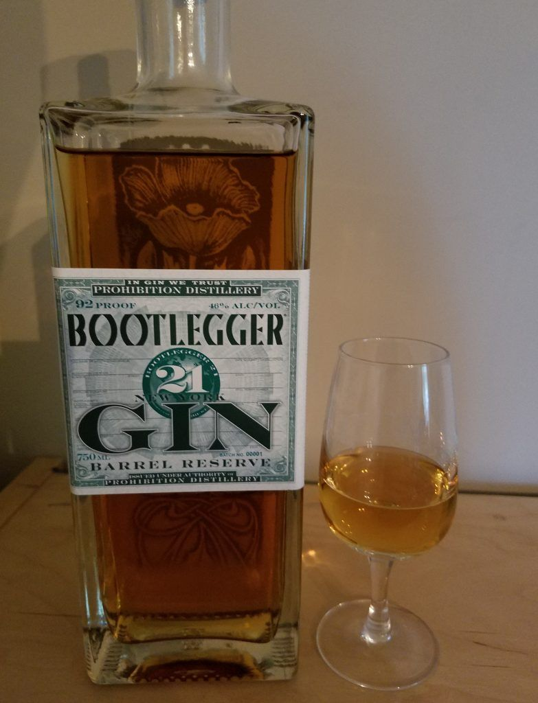Prohibition (Roscoe, NY) Bootlegger 21 Gin Barrel Reserve is
