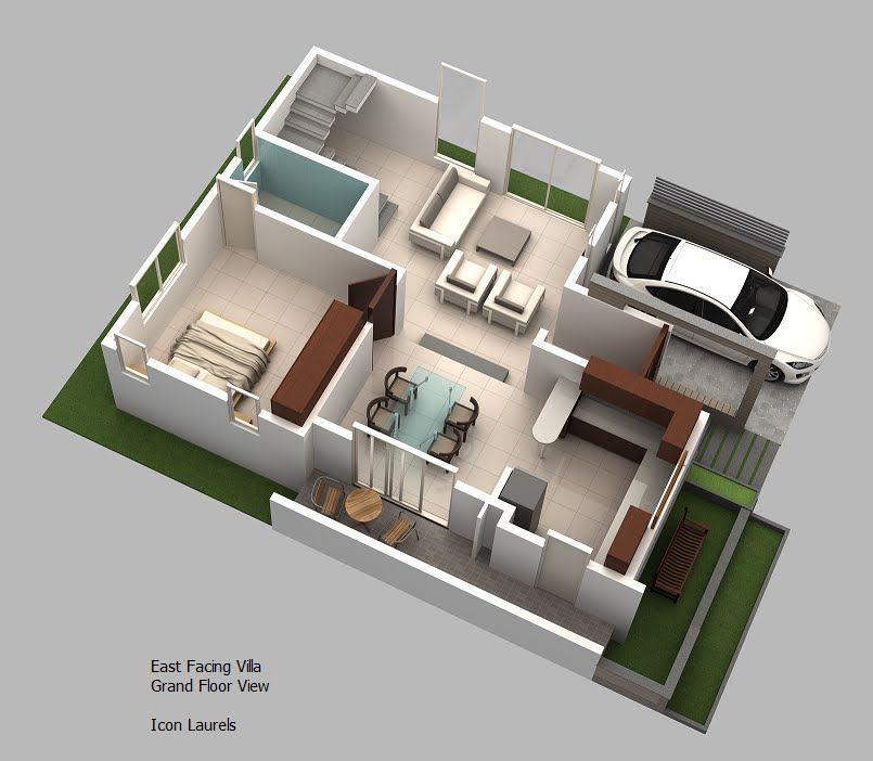 Home Design 3d For Windows 8: 3D Duplex House Plans - MyhomeMyzone.com