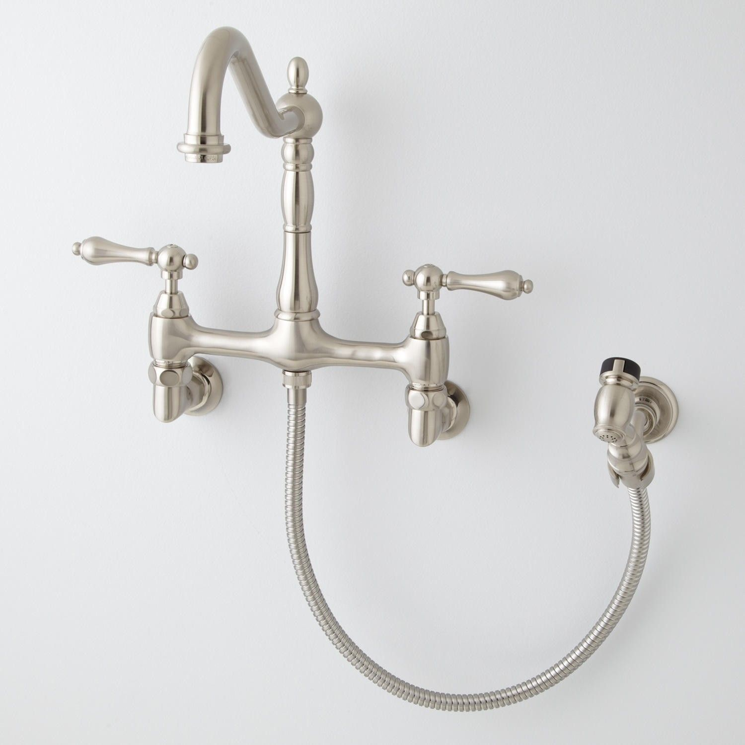Felicity Wall-Mount Kitchen Faucet with Side Spray | Pinterest ...