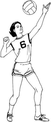 Dibujos de voleibol faciles de hacer