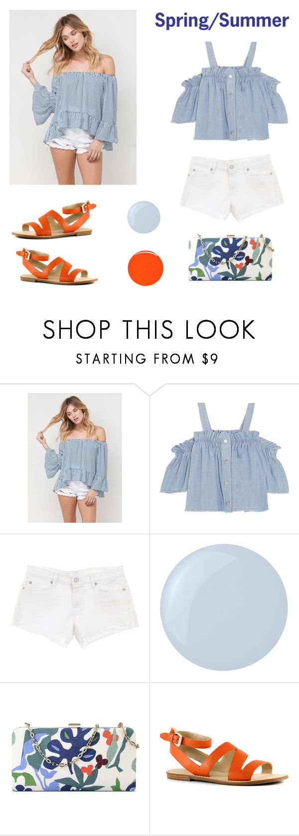 """""""Spring & Summer"""" by mayrae-sanchez on Polyvore featuring Steve J & Yoni P, 7 For All Mankind, Essie, Nine West, Marc Fisher and RGB Cosmetics"""