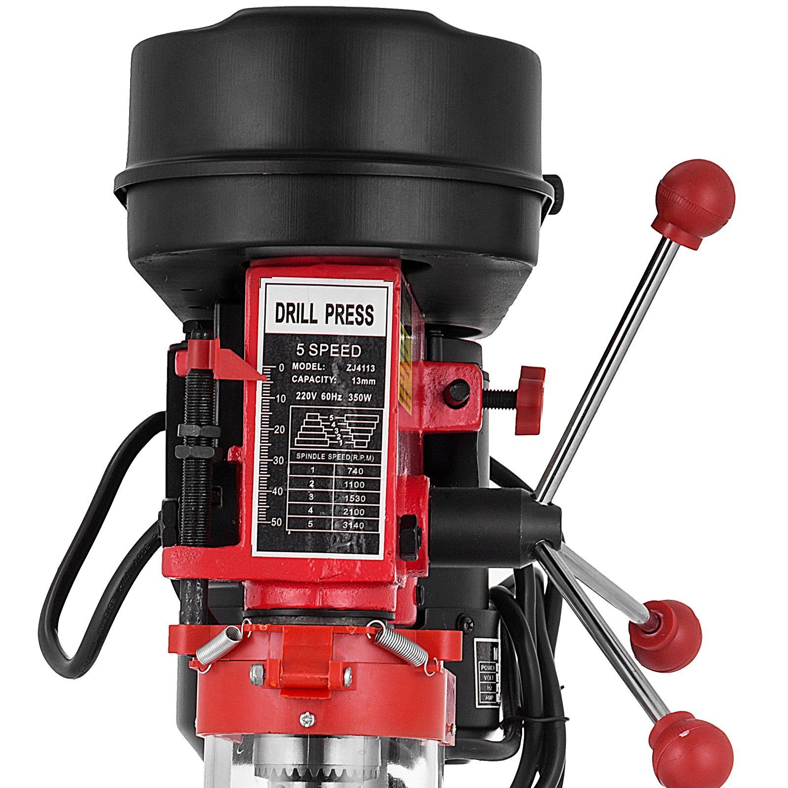 Dreamjoy 8 Inch 5speed Benchtop Drill Press 350w 220v Industrial Electric Mini Stand Press Mount Bench Drill Machine 13mm Drill Press Drill Industrial Electric
