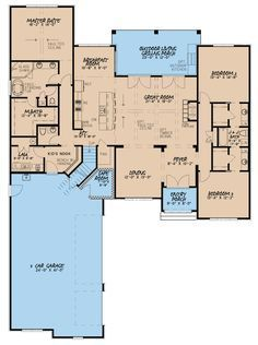 193 1019 Floor Plan Main Level French Country House Plans House Plans Best House Plans