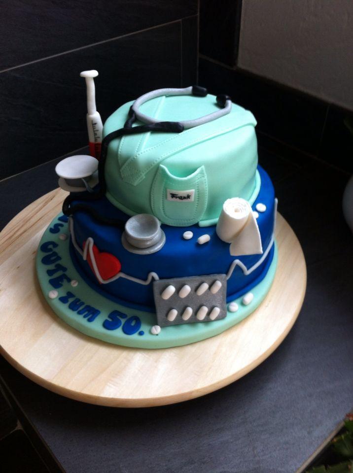 Arzt Torte Aus Fondant Torte Ohne Backen Kuchen Und Torten Kuchen
