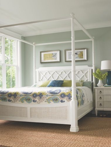 Tommy bahama home ivory key south hampton poster bed at - Tommy bahama beach house bedroom ...