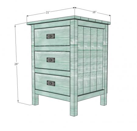 Reclaimed Wood Look Bedside Table Diy Furniture Plans
