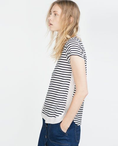 Image 4 of STRIPED T-SHIRT from Zara