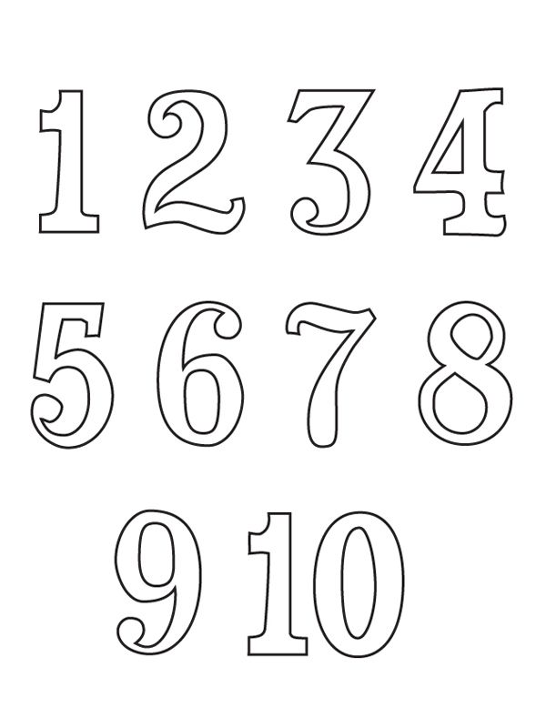 numeros em ingles numbers 1 10 coloring pages