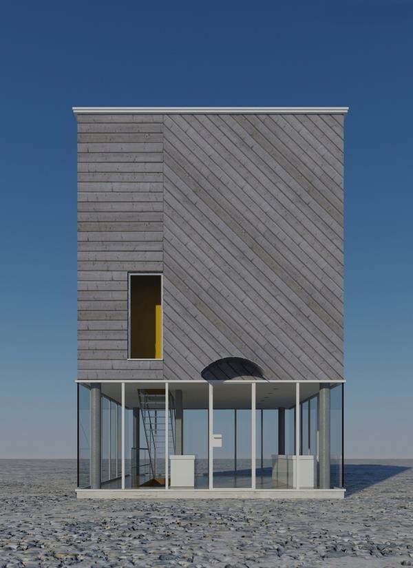 pingl par sylvie s guin sur b ton contemporain pinterest bardage bois architecture et. Black Bedroom Furniture Sets. Home Design Ideas
