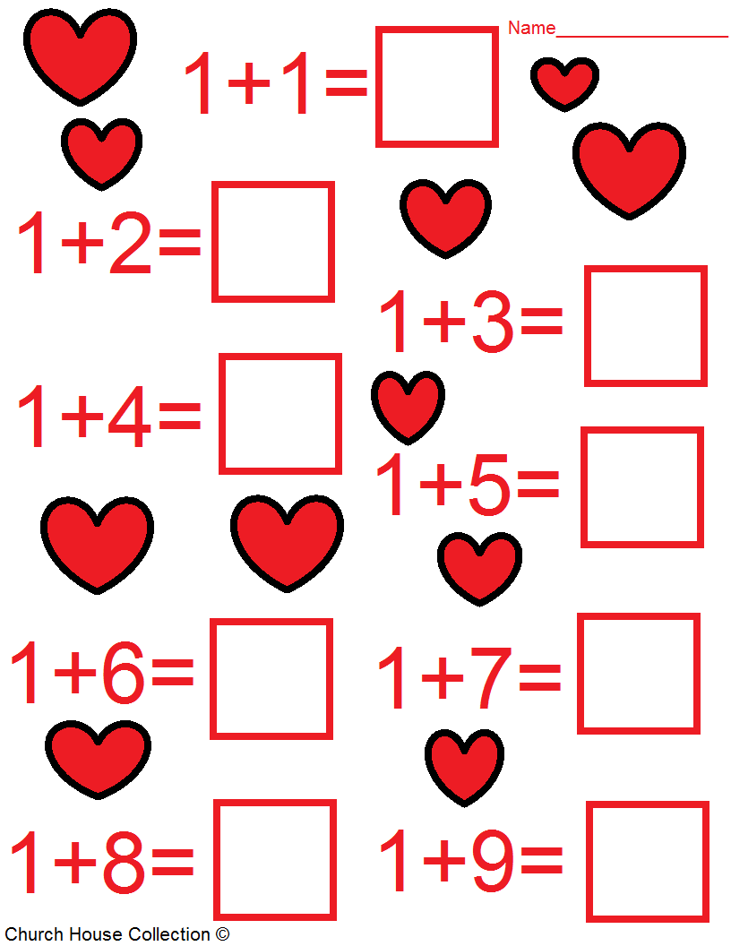 Christian Crafts For Valentines Day Valentines Day Math