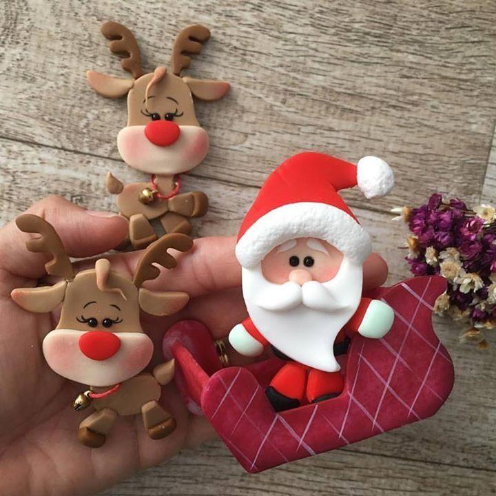 Pin de giovanna galbusera en pasta sintetica Pinterest Navidad