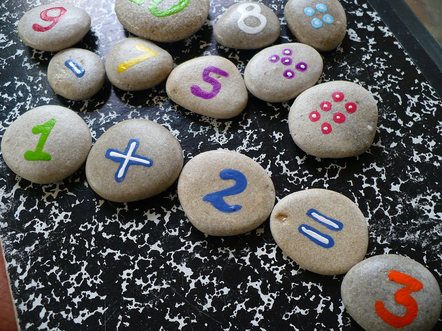 COUNTING ROCKS...a fun childrens math game,back to school. $24.00 ...