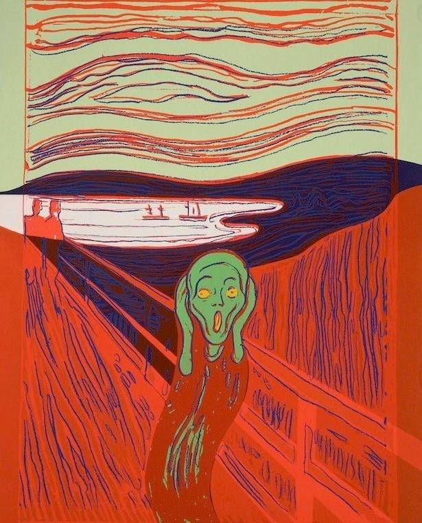 Andy Warhol The Scream (after Munch), 1984   Andy warhol