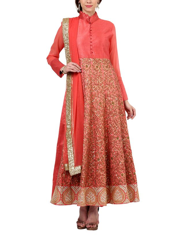 A beautiful and vibrant coloured traditional suit featuring embroidered details all over. Perfect for an evening event or for a special celebration.