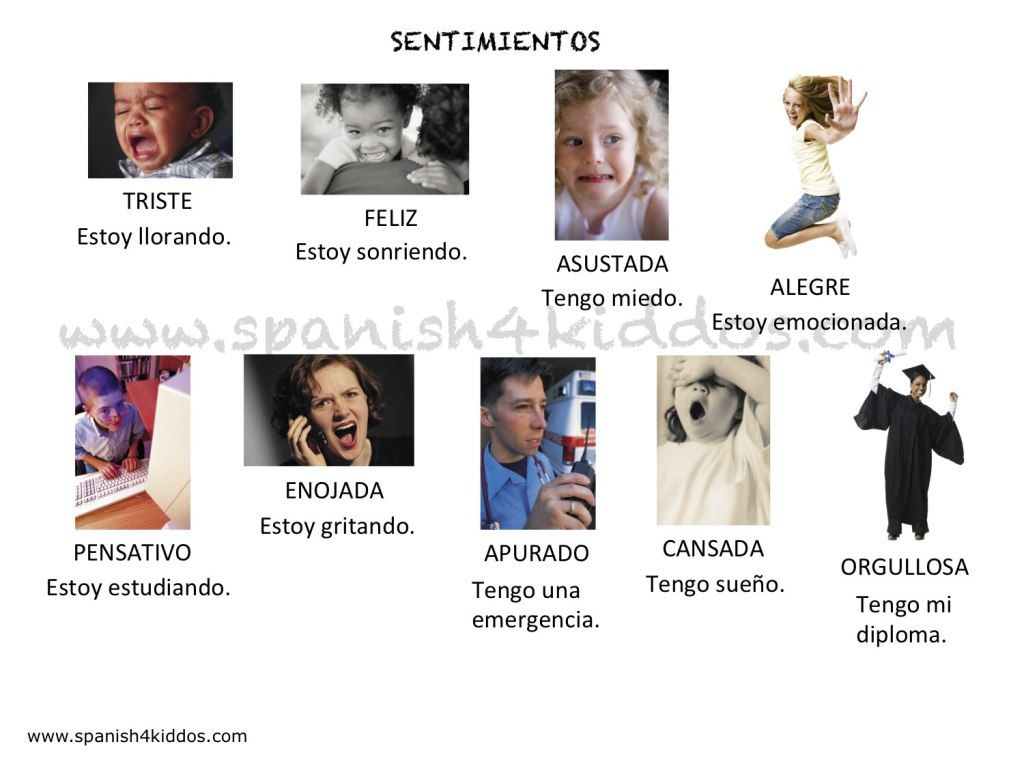 Emotions In Spanish And English