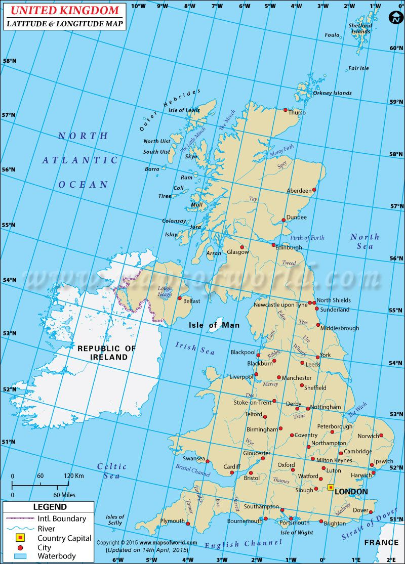 Uk Latitude And Longitude Latitude And Longitude Map Map Of