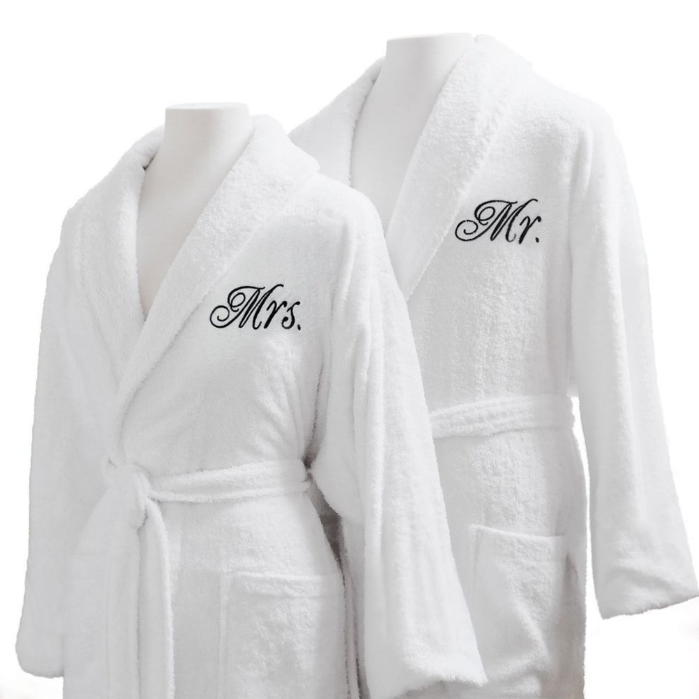 Couple Bathrobes Set Mr Mrs Married Honeymoon Soft Durable Pool Spa Bath  Robes  CoupleBathrobesSet  MrAndMrs 73cf15add
