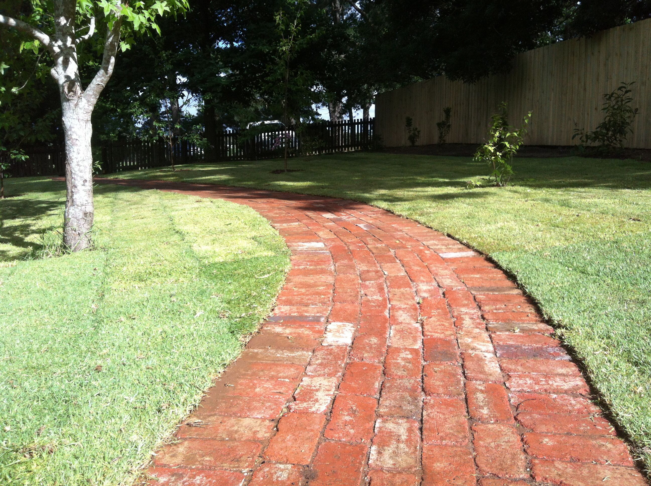 up cycled old red brick pavers dg completed projects