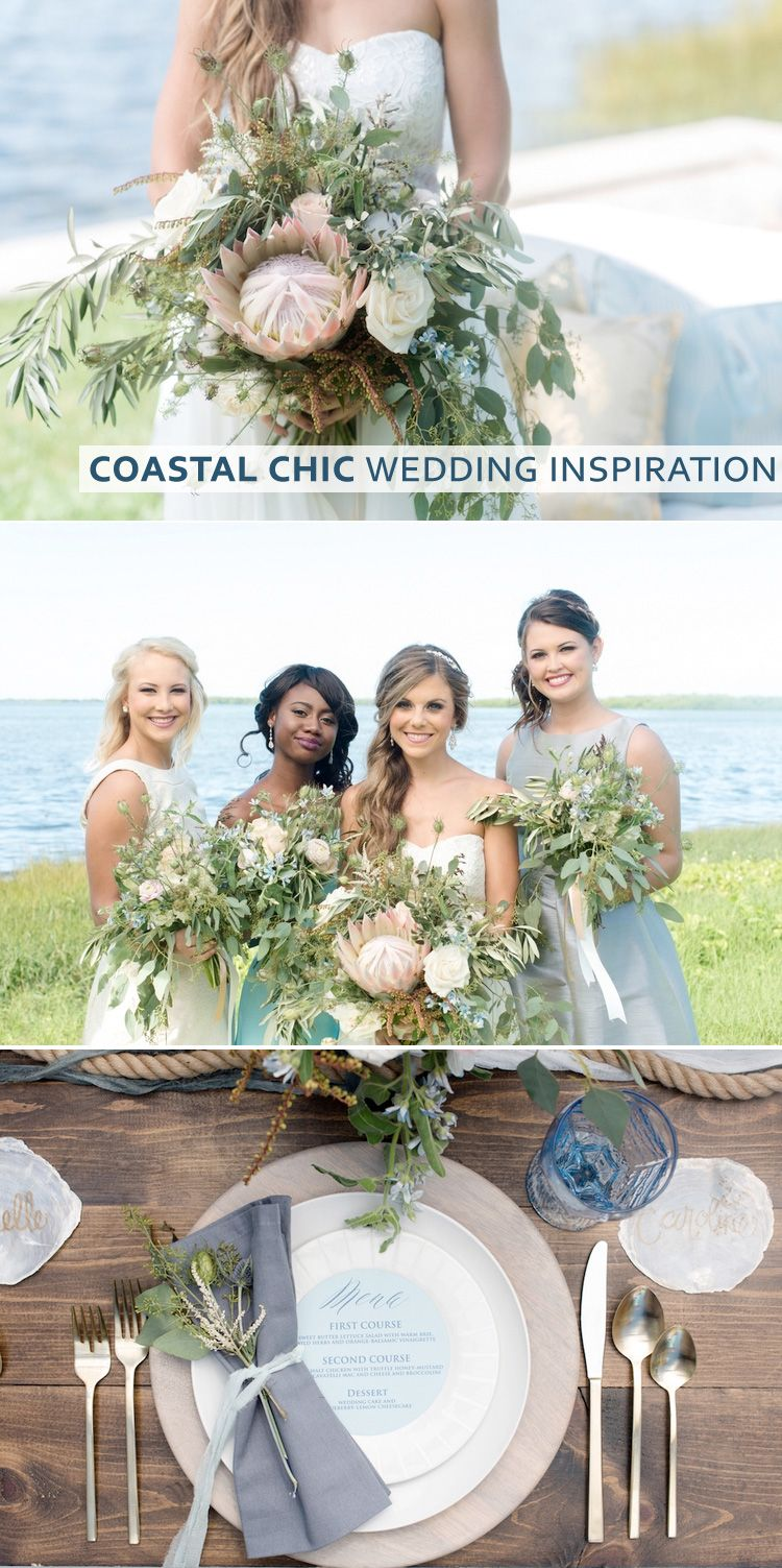 Coastal Chic Wedding Inspiration In Blues Greys And Neutrals