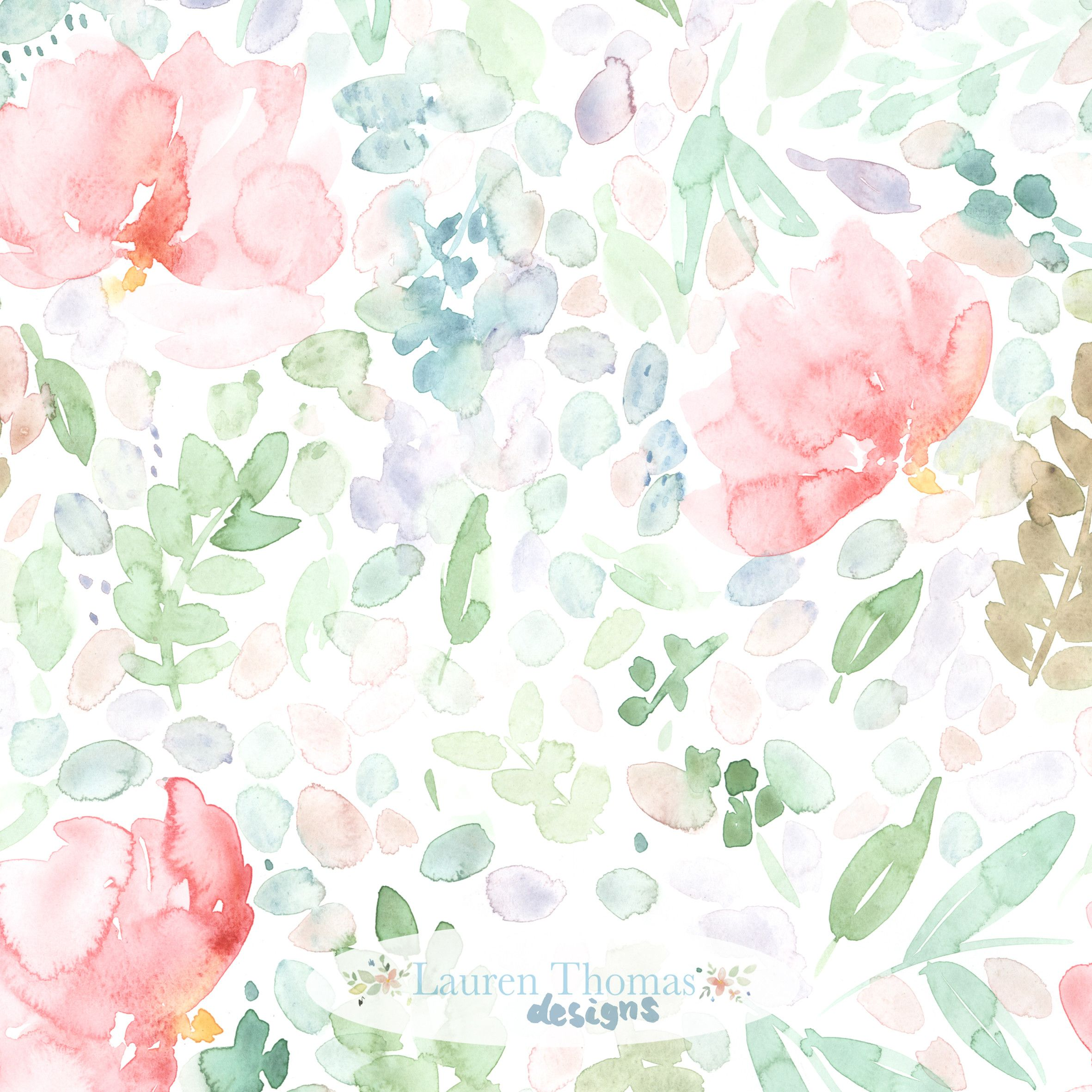 Painterly Watercolour Floral Pattern Available On Society6