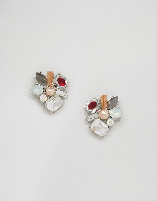 0704873a53c2e Jewel Statement Stud Earrings | Wish List | Stud earrings, Asos ...