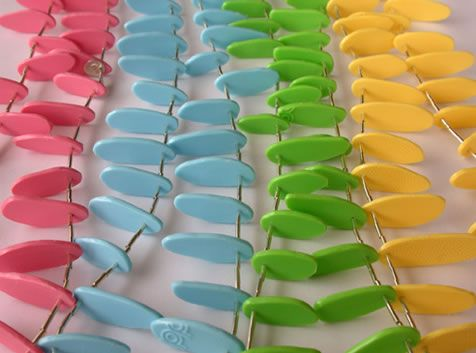 Liana Kabel - necklaces made from tupperware   Purely Recycled ...
