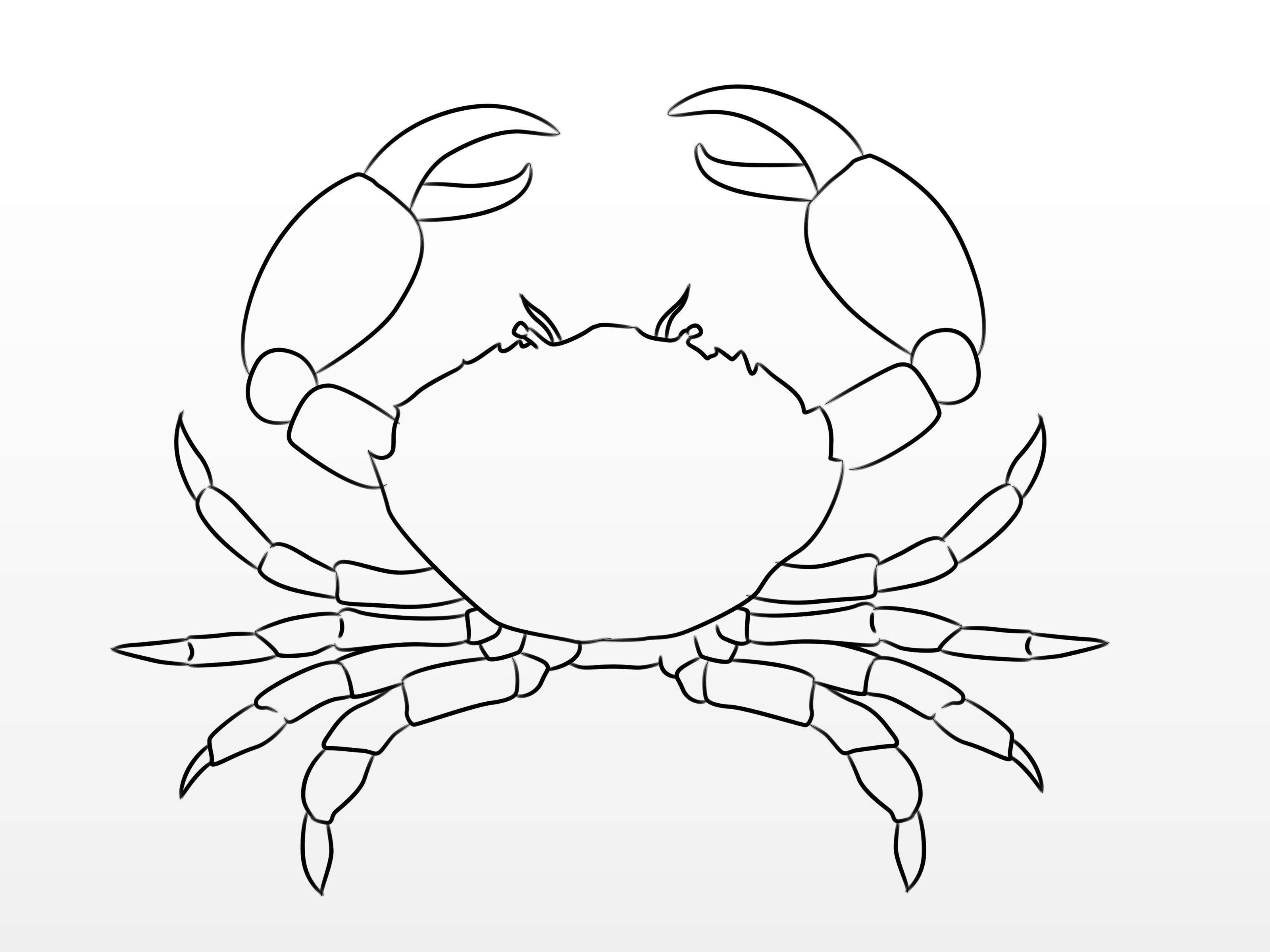 How To Draw A Crab Via WikiHow