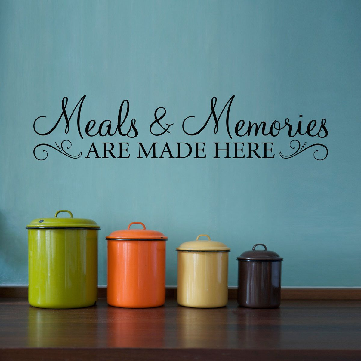 Decorate Kitchen Walls meals & memories decal - kitchen quote wall decal - meals and