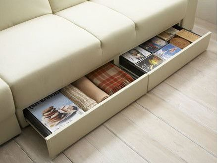 Wooden Sofa Bed With Storage Multifunctional Elegant Sofa Bed With