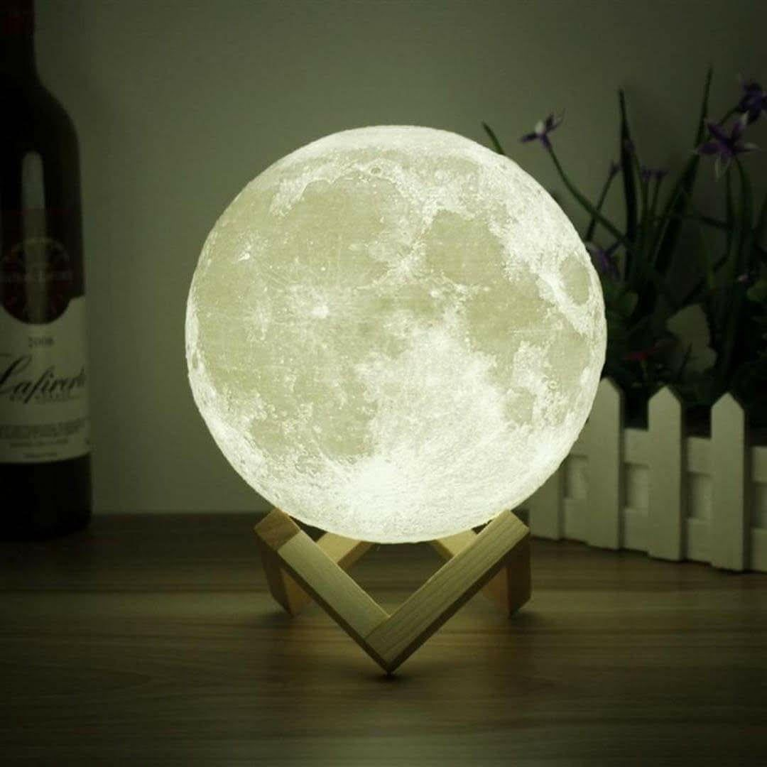 3d Space Light With Images Night Light Moon Decor Moon Light Lamp