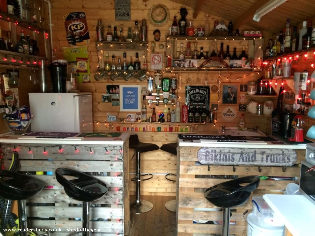 Man Cave Ideas In Garden : The shed not yet named pub entertainment from garden