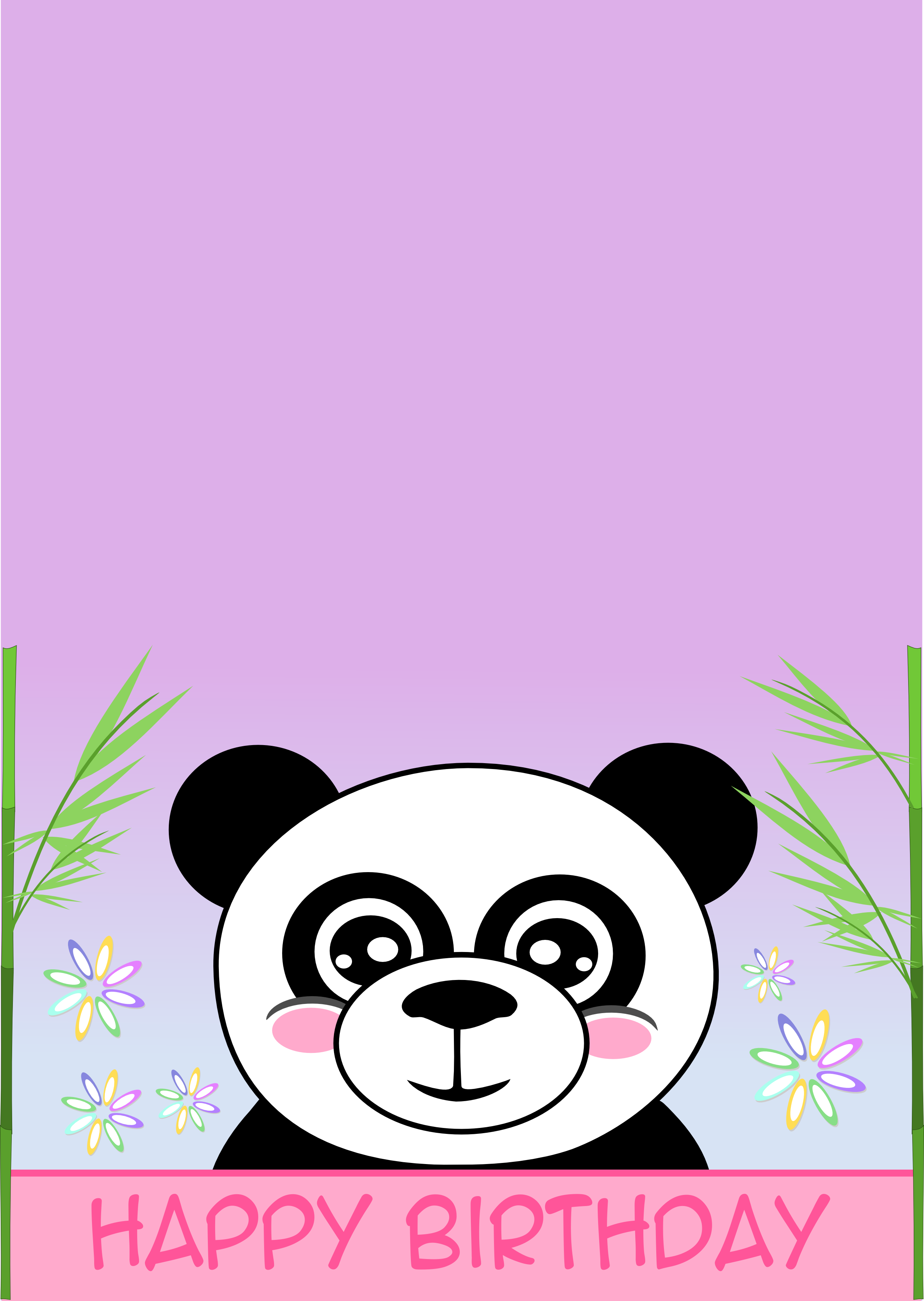 Printable Cards Panda Birthday Cards Printable Cards Happy Birthday Cards