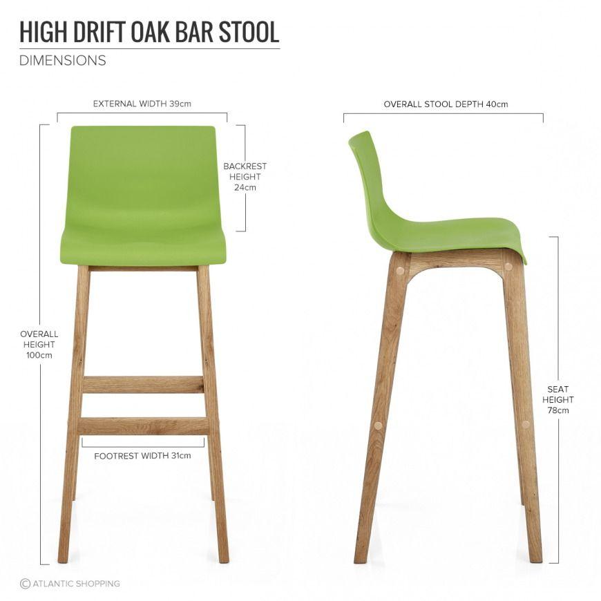 Drift Oak Green Bar Stool Green Bar Stools Bar Stools Oak